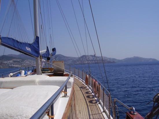 séjour en pleine mer d'une semaine a bord d'un voilier
